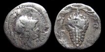 Ancient Coins - Cilicia, Soloi. AR Obol. Athena / Grape Bunch with Tendrils