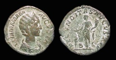 Ancient Coins - Julia Mamaea, AE-Sestertius, AD 232. Fecunditas. aVF