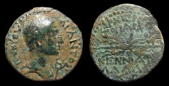 Ancient Coins - Cilicia, Olba. Ajax. AE-20, Year 2, AD 11-12. Winged Thunderbolt