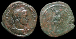 Ancient Coins - Elagabalus, AE-Sestertius. AD 220-1. Rome. Libertas. Scarce!