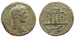 Ancient Coins - Caracalla, AE-31. Koinon of Cyprus. Temple of Paphian Aphrodite. VF