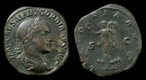 Ancient Coins - Gordian III, 238-244 AD. Large AE sestertius, 238-239 AD. VICTORIA AVG S-C