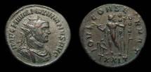 Ancient Coins - Maximianus, Antoninianus, AD 290-1. Ticinum. Jupiter w/ Standards. VF, pleasing style!