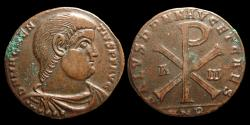 Ancient Coins - Ancient Rome. Magnentius, 350-353 AD. Exceptional bronze Double Centenionalis