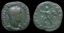Ancient Coins - Severus Alexander. AE-Sestertius, AD 234. Rome. Sol w/ Whip