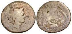 Ancient Coins - Julius Caesar. 49-44 BC. AR portrait denarius