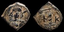Ancient Coins - Constantine IV, AE-Decanummium. Constantinople. VF