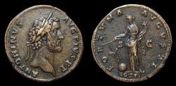 Ancient Coins - Antoninus Pius, AE-Sestertius. AD 139. Fortuna. Near EF