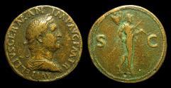 Ancient Coins - Paduan Type, Vitellius. AE- Sestertius. Rx./ Mars Walking rt. VF