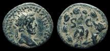 Syria, Antioch. Antoninus Pius. AE-Semis, AD 145-7. Large SC & Eagle in Wreath