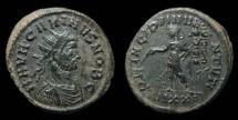 Ancient Coins - Carinus, as Caesar. Antoninianus, AD 282. Ticinum. Emperor w/ Standards. VF
