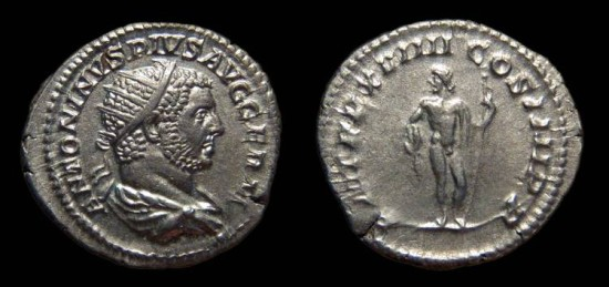 Ancient Coins - Caracalla, AR Antoninianus, AD 216. Jupiter. EF