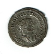 Ancient Coins - Diocletian, 3.92 g, AD 284-305, Antoninianus, Crescent over S, Antioch mint, RIC 6222