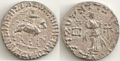 Ancient Coins - Indo Scythian Azes II  Silver Tetradrachm