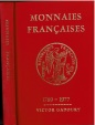 World Coins - Monnaies Francaises, 1789-1977, Victor Gadoury, c. 1977  edition, Hard cover, No Dust jacket, Good condition