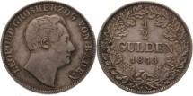 World Coins - Germany, Baden,  1/2 Gulden 1848, toned good ef