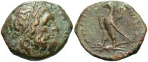 Ancient Coins - Ptolemaic Kingdom. Ptolemy II Philadelphos. 285-246 B.C. Æ. Ake-Ptolemais, ca. 261/0-246 B.C. VF, brown patina.