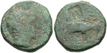 Ancient Coins - Seleukid Kingdom. Antiochos III. 223-187 B.C. Æ. Near Fine, green patina.