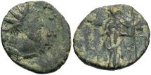 Ancient Coins - 'Barbarous' radiate. Ca. late 3rd century A.D. Æ. Imitating Victorinus or Tetricus I. Near VF, dark brown and earthen green patina.