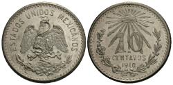 World Coins - Mexico, United States of Mexico. 1910. 10 centavos. Chioce BU.