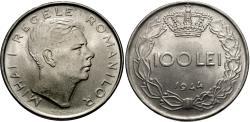 World Coins - Romania. Mihai I. 1944. 100 lei. BU.