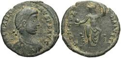 Ancient Coins - Gratian. A.D. 367-383. Æ 18 mm. Good Fine, black patina with sandy highlights.