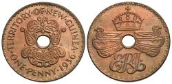 World Coins - New Guinea. 1936. 1 penny. Unc., red.