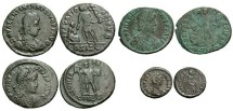 Ancient Coins - [Roman Imperial]. Lot of four late 4th century Æ.
