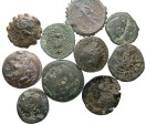 Ancient Coins - [Greek]. Lot of ten Hellenistic Æ.