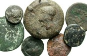 Ancient Coins - [Greek] Lot of seven Greek bronzes. Average Fair to Fine.