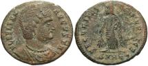 Ancient Coins - Helena. Augusta, A.D. 324-328/30. Æ follis. Heraclea. VF, brown patina, light deposits.