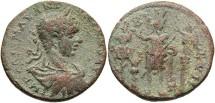 Ancient Coins - Phoenicia, Tyre. Elagabalus. A.D. 218-222. Æ. Near VF, brown and sandy green patina.
