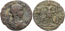 Ancient Coins - Phoenicia, Tyre. Severus Alexander. As Caesar, A.D. 222. Æ. Good Fine, olive-green and brown patina, some roughness. Scarce as Caesar issue.