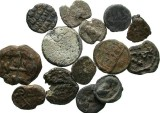 Ancient Coins - [Byzantine]. Lot of fourteen Byzantine lead seals.