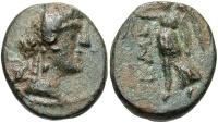 Ancient Coins - Syria, Coele-Syria. Chalkis ad Libanon. Ptolemaios. Tetrarch, ca. 85-40 B.C. Æ. S.E. 240 (73/2 B.C.) Good VF, green patina.