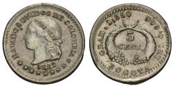 World Coins - Colombia. 1882. 5 centavos. Unc., soft strike.