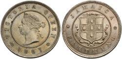 World Coins - Jamaica. Victoria. 1887. 1 farthing. Unc.