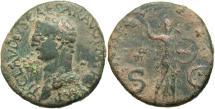 Ancient Coins - Claudius. A.D. 41-54. Æ as. Rome. Good Fine, green patina, deposits and roughness.