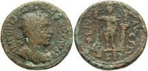 Ancient Coins - Phoenicia, Berytus. Gallienus. A.D. 253-268. Æ. Fine, rough brown surfaces.