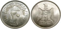 World Coins - Egypt. AH 1380 (1960). 20 piastres. BU, strong luster.
