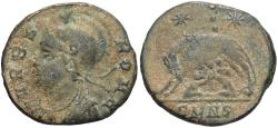 Ancient Coins - Commemorative Series. A.D. 330-354. Æ follis. Nicomedia. VF, heavy earthen deposits.