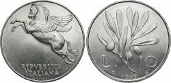 World Coins - Italy. 1949-R. 10 lire. Choice BU, strong luster.