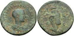 Ancient Coins - Syria, Seleucis and Pieria. Antiochia ad Orontem. Philip II. As Caesar, A.D. 244-247. Æ 8 assaria. Fine, green patina.