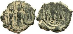 Ancient Coins - Heraclius. 610-641. Æ follis. Constantinople. VF, earthen green patina.