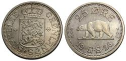 World Coins - Greenland. 1926. 25 ore. Choice BU, lightly toned.