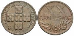 World Coins - Portugal. 1943. 20 centavos. EF.