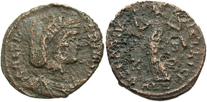 Ancient Coins - Galeria Valeria. Augusta, A.D. 293(?)-311. Æ follis. Fine, rough brown surfaces.