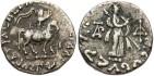 Ancient Coins - Indo-Scythian Kingdom. Azes. Ca. 58-12 B.C. AR drachm. VF, light deposits.