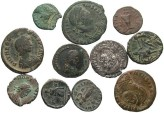 Ancient Coins - [Roman Imperial]. Lot of eleven AR and Æ.