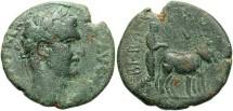 Ancient Coins - Phoenicia, Berytus. Divus Nerva. Died A.D. 98. Æ 26 mm. Fine, green patina.
